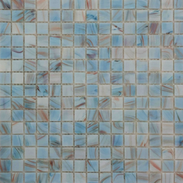 CLOUD BLUE/COPPER Mosaic 20x20mm