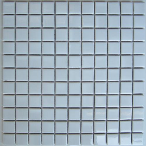 Gloss White Mosaic 25 x 25mm