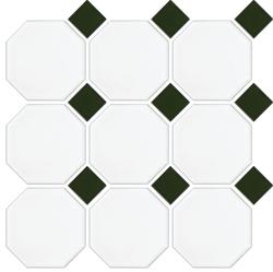 MATT WHITE OCTAGON GREEN MATT DOT 97X97
