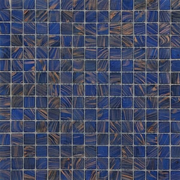 SAPPHIRE BLUE/COPPER Mosaic 20 x 20mm