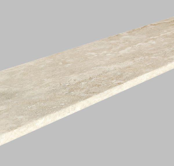 TRAVERTINE GREY EXTERNAL BULLNOSE COPING 300X1200X20mm