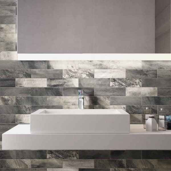 COUNTRY BRICK GREY MATT TILE 70x280mm