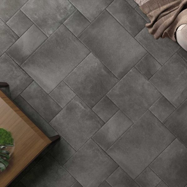 TERRA COTTA GRIGIO EXTERNAL FRENCH PATTERN TILE 400X600mm