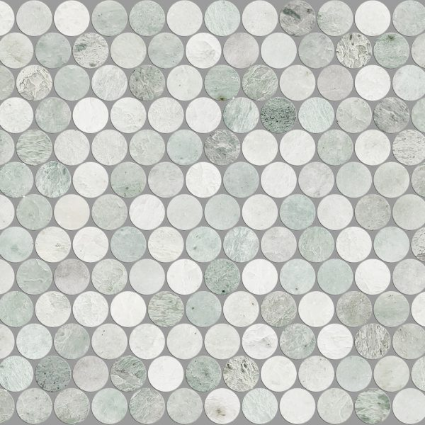 ARTEMIS MING GREEN PENNY ROUND HONED 23X23
