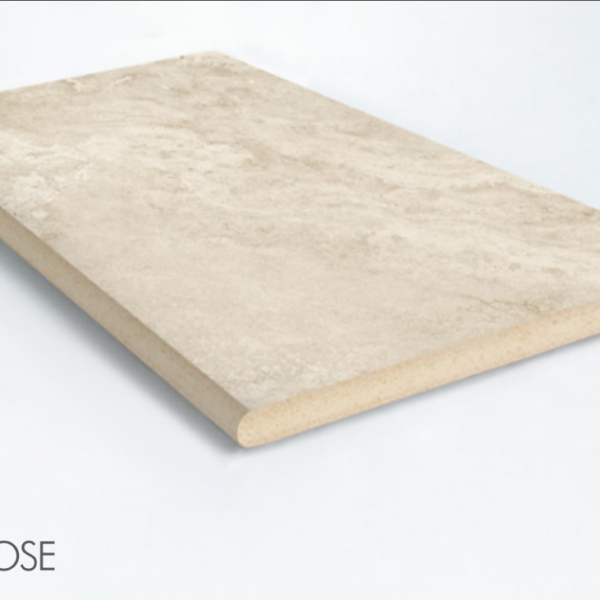 PARADISE STONE IVORY BULLNOSE COPING 400X400X20mm