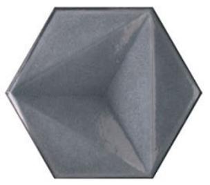 CHROMA HEX GRIGIO GLOSS TILE 150x173mm