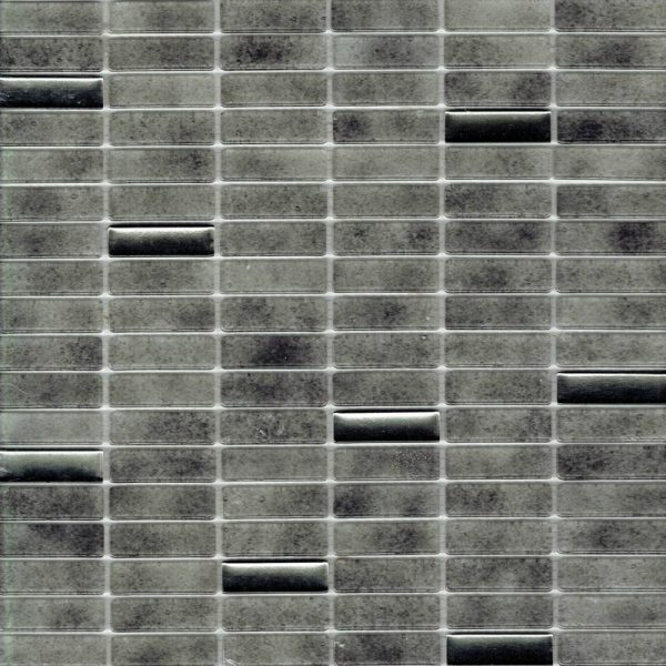 ATHENA BLEND ARGENTO MOSAIC TILE 15x48mm