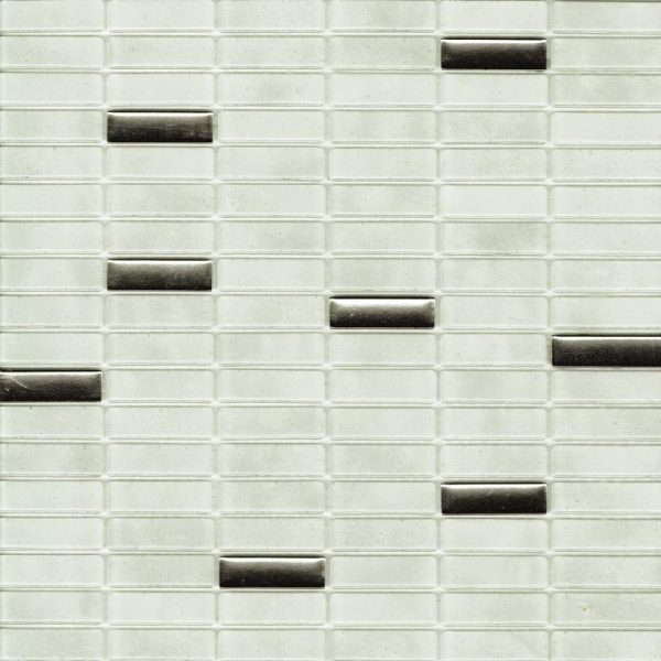 ATHENA BLEND BIANCO MOSAIC TILE 15x48mm
