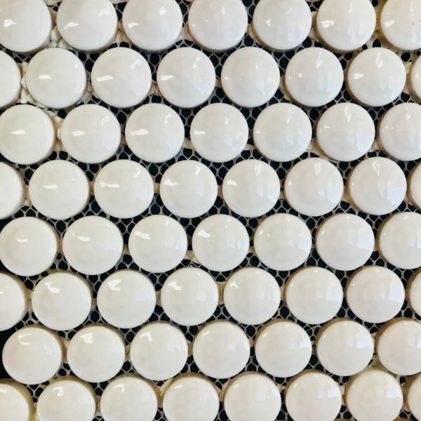 BELLAVISTA GOLF BALL GLOSS White MOSAIC TILE 295x320mm