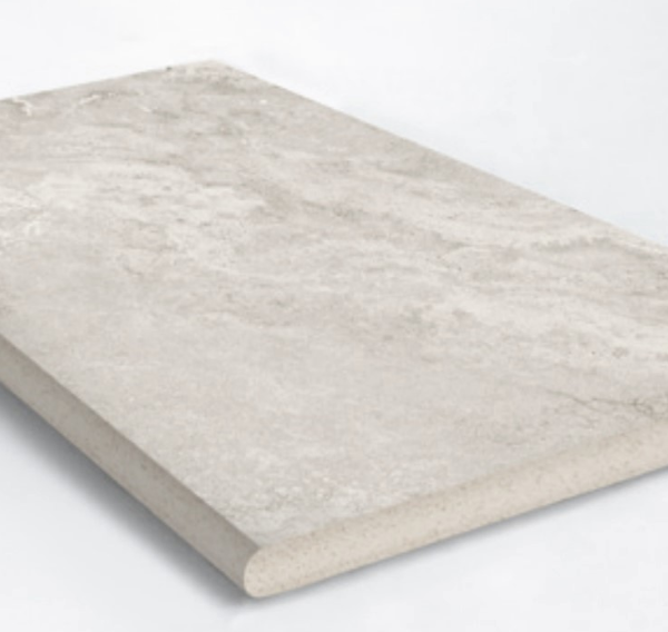 PARADISE STONE SILVER BULLNOSE COPING 400X400X20mm