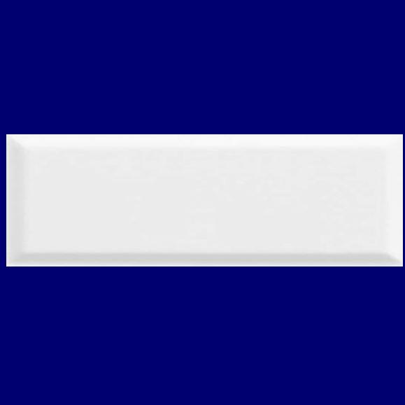 GLOSS WHITE BEVEL TILE 100X300mm