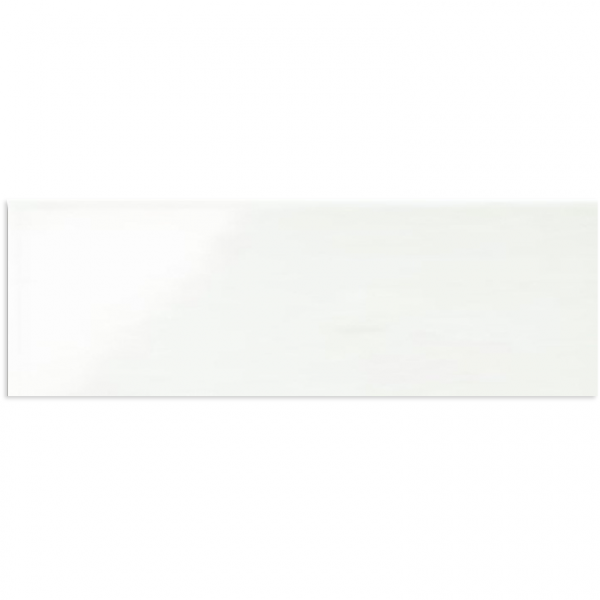GLOSS WHITE RECTIFIED WALL TILE 200X600mm
