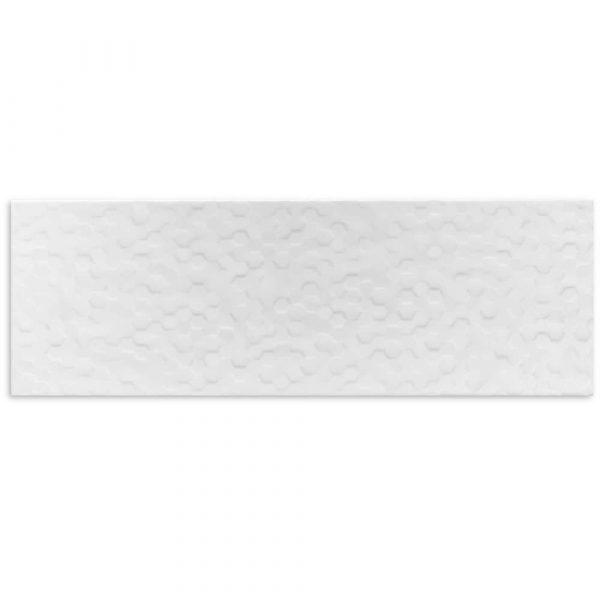 MATT WHITE HEXAGON WALL TILE 200X600mm