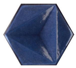 CHROMA HEX BLU GLOSS TILE 150x173mm