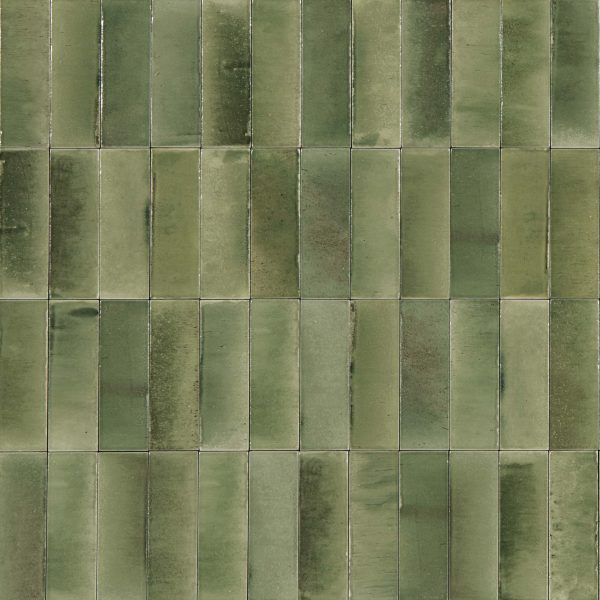 GLEEZE GIADA GREEN GLOSS TILE 50X150mm