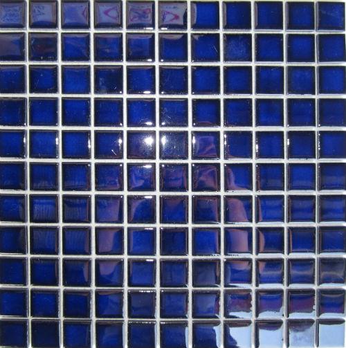 Gloss Royal Blue Mosaic 25x25mm