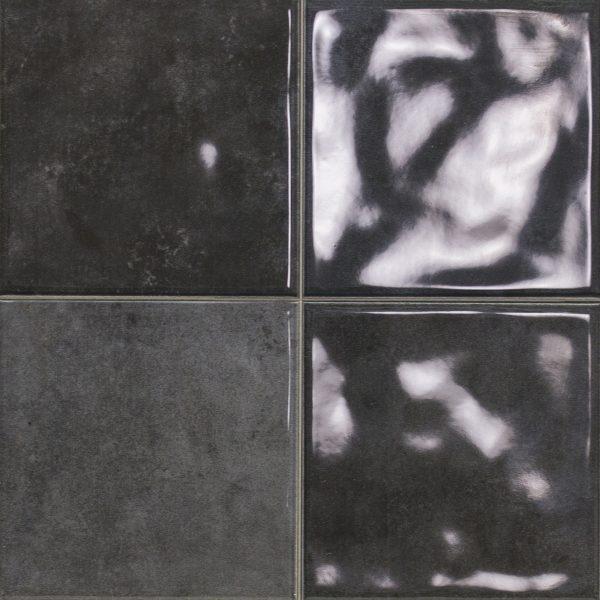 OMEGA12 SCORED GRAFITO CHARCOAL GLOSS TILE 243X243mm