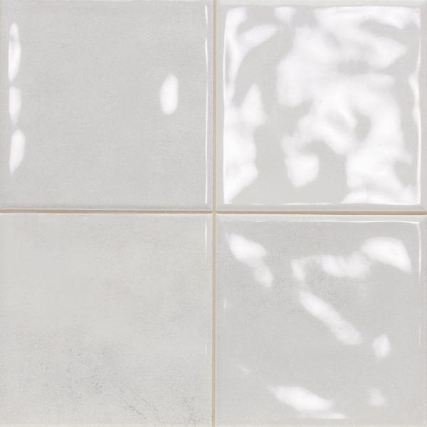 OMEGA12 SCORED PERLA WHITE GLOSS TILE 243X243mm