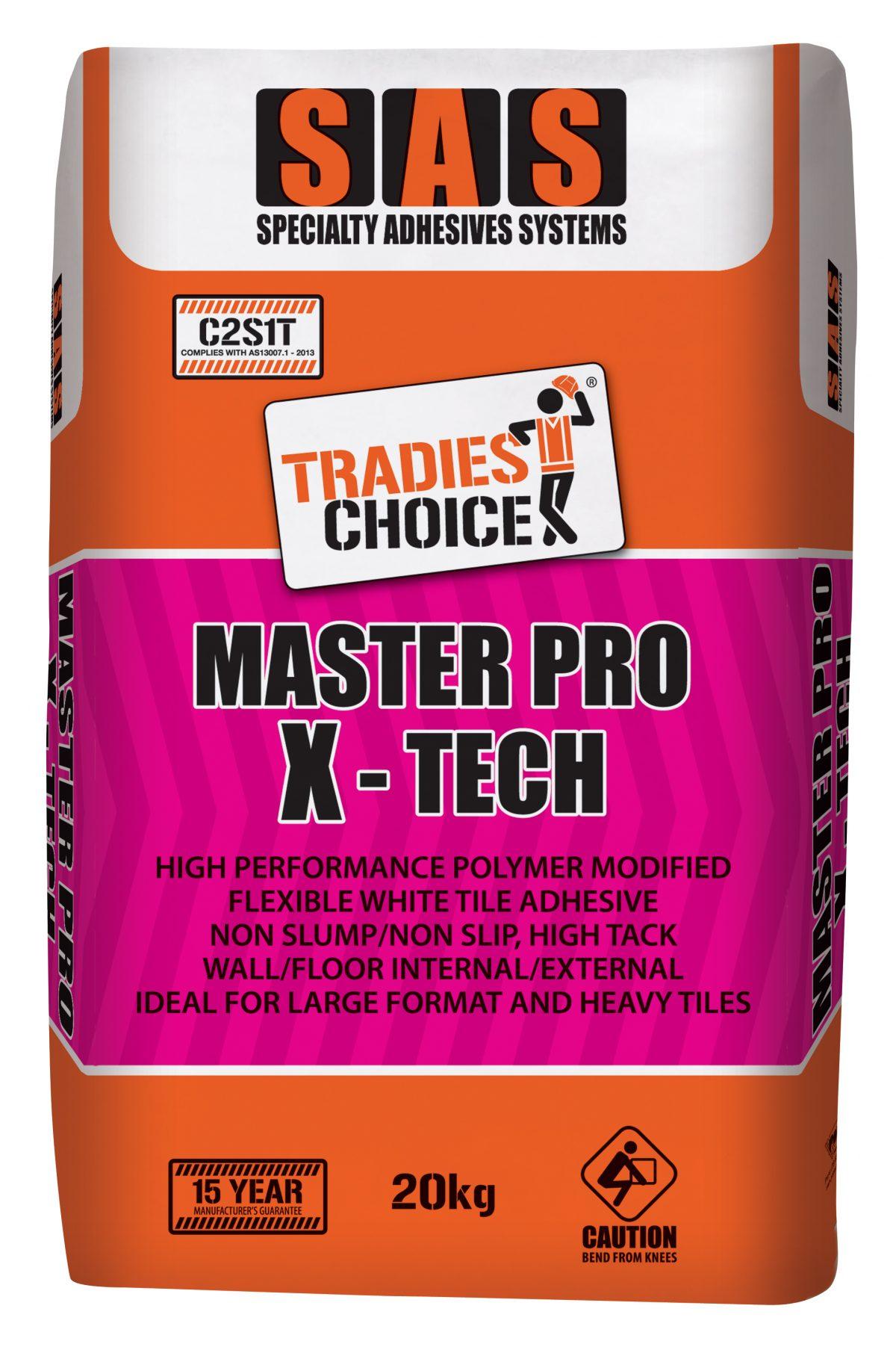 TRADIES CHOICE MASTER PRO X-TEC 20kg ADHESIVE